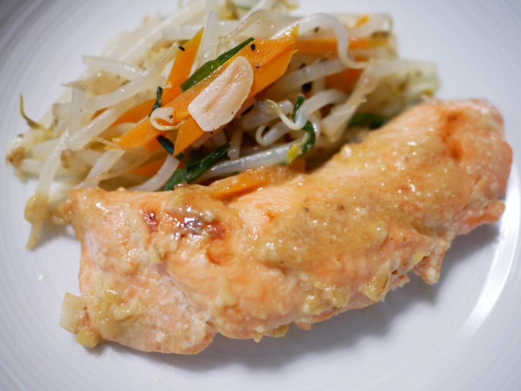鮭の味噌焼き