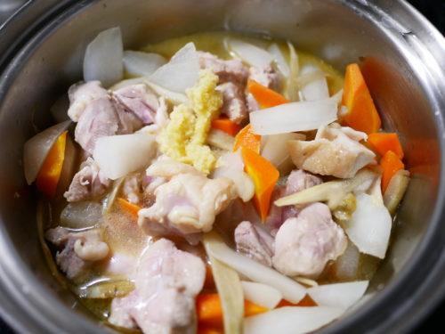 鶏もも肉の筑前風味噌煮