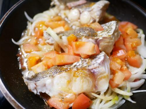 白身魚のアクアパッツァ風作り方