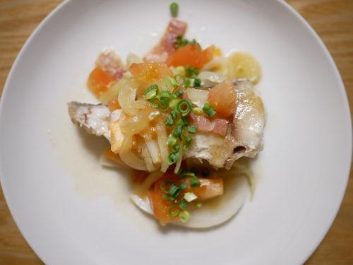 白身魚のアクアパッツァ風
